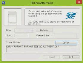 Cara 4 – Format Memory Card Dengan SD Formatter