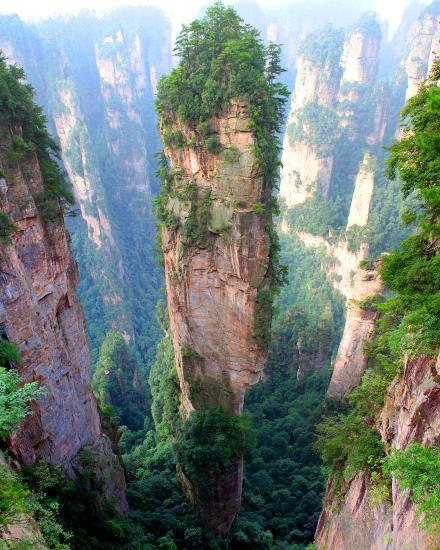 Penggunungan Tianzi, China