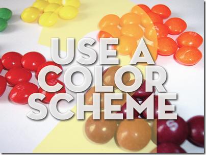 gunakan skema warna yang pas